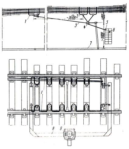 Схема электрообогрева стрелок: