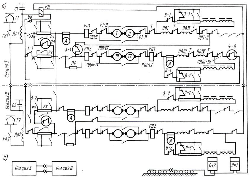 силовая схема электровоза