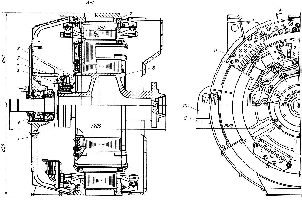 Тяговый генератор ГС-501А: 1